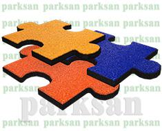 06-04 Epdm Yüzeyli Kauçuk Karo Zemin Kaplama Puzzle Modeli